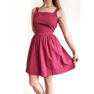 Madewell Apron Bow Back Dress in Antique Rose 8